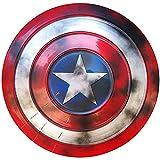 Captain America Metal Shield 1: 1 Avengers Costume Metal Shield Adulto Bambini Supereroe Costume retrò Scudo Halloween Puntelli Cosplay 47 Cm