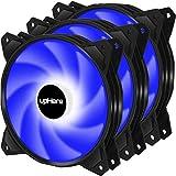 upHere Ventola da Blu LED 120mm 3PIN Case per PC,Ventola Silenziosa di qualità Premium,PF120BE3-3
