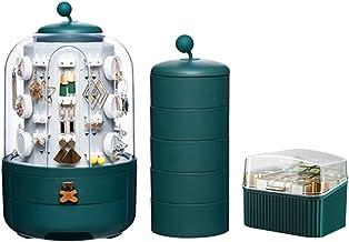 Stofdichte grote capaciteit Cosmetics Sieraden Desktop Opbergdoos Lade Opbergdoos + Lipstick Box lippenstift set 2 groen
