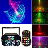 New Upgraded Party Northern Lights, Portable Disco DJ Light with Unique Nebula Effect, Strobe Laser Light Remote Control, Sound Activated Rave Stage Projector for Indoor Outdoor Birthday Show Home Bar