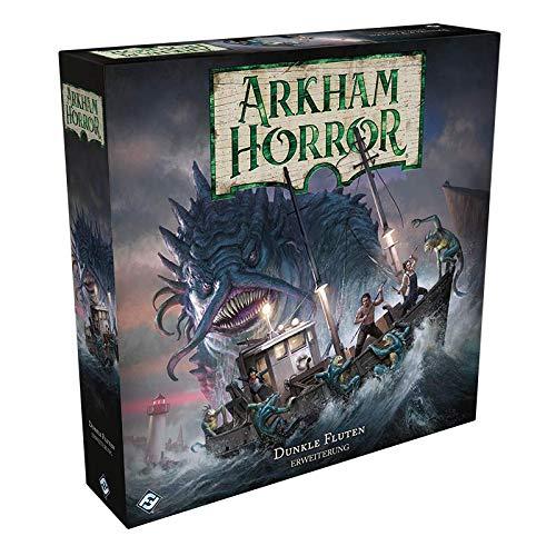 Fantasy Flight Games FFGD1039 Asmodee Arkham Horror 3.Edition - Dunkle Fluten, Erweiterung, Expertenspiel, Deutsch