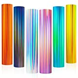 Holographic Glossy Rainbow Permanent Adhesive Craft Vinyl for curicut,Cameo,for DIY Tumblers,Rainbow Vinyl