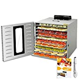 Commercial Stainless Steel Food Dehydrator for Food and Jerky Fruit Dehydrator,...