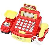 Redxiao 【𝐎𝐟𝐞𝐫𝐭𝐚𝐬 𝐝𝐞 𝐁𝐥𝐚𝐜𝐤 𝐅𝐫𝐢𝐝𝐚𝒚】 Juguete de rol, Juguete de Caja registradora de cálculo de cajero de supermercado, escáner de simulación para niños(884A-3 Cash Register)