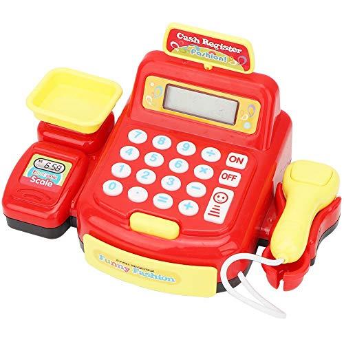 Redxiao 【 】 Juguete de rol, Juguete de Caja registradora de cálculo de cajero de supermercado, escáner de simulación para niños(884A-3 Cash Register)