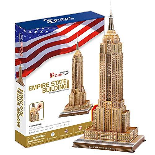 ZGYQGOO Puzzle 3D Empire State Building Model Building Kit Craft Toy per Bambini Regalo e Decorazione