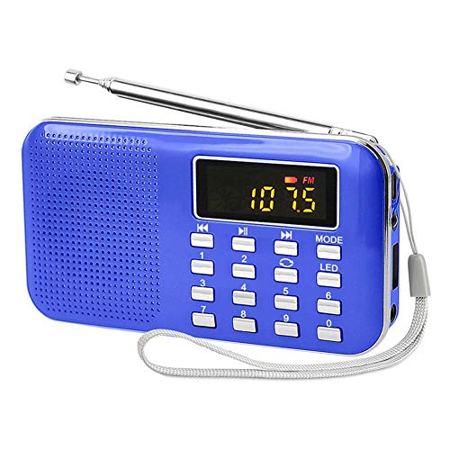 Retro Radio, Portable AM FM Radio with Best Reception, Earphone Jack, Loud Volume, USB/TF/MP3 Player for Home, Office, Kitchen,Emergency Flashlight,LED Display