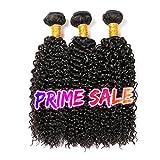 CLAROLAIR brasileño pelo rizado cabello virgen brasileño pelo rizado 3 paquetes de pelo humano brasileño extensión cabello rizado cabellos crespos (100 +/-5g)/(10 12 14'')