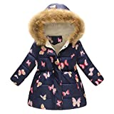 Baby Boys Girls Winter Warm Coats GoodLock Toddler Floral Hooded Windproof Jacket Coat (F, 5-6Years)
