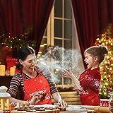 KATOOM Weihnachten Schürze Lustig Kochschürze Schneemann Weihnachtsmann Rentier Küchenschürze Rot Latzschürze für Weihnachtensparty Heiligabend Chef Damen Herren - 2