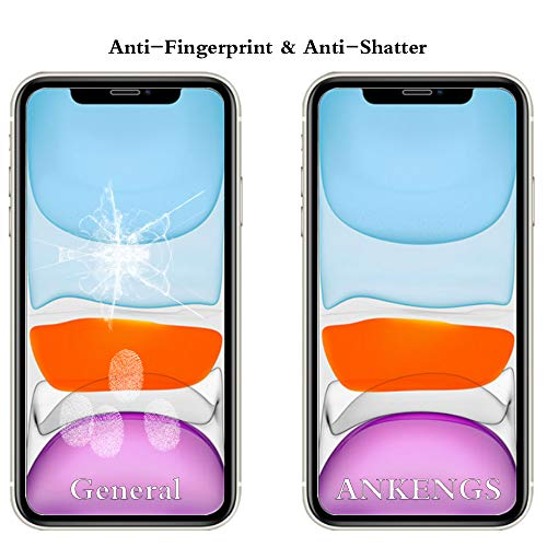 ANKENGS iPhone XR Screen Protector and iPhone 11 Screen Protector [2 Pack],iphone xr glass screen protector,[Anti-scratch][Anti-Bubble][Anti-Glare] Tempered Glass for iPhone 11 and iPhone Xr 6.1-Inch