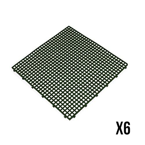 ArtPlast Azulejos antideslizante verde 40x 40x 0,7cm–6piezas