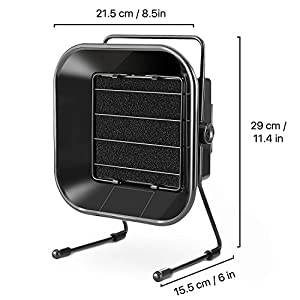 Flexzion Solder Fume Extractor Smoke Absorber - Benchtop Flux Fume Air Filter Exhaust Fan Ventilation System Portable Adjustable Angle with Activated Carbon Filter for Soldering Bench Top Work Station