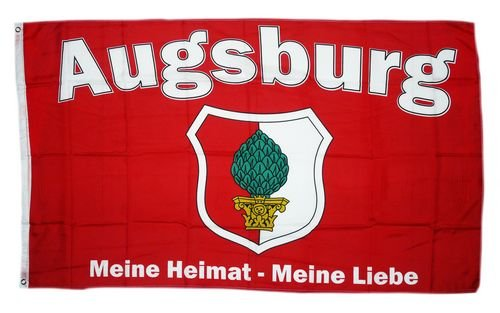 Flagge Fahne Augsburg Meine Liebe 90 x 150 cm