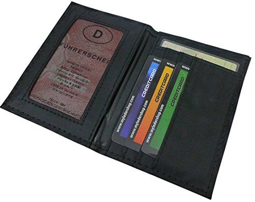 Porta carte d'identità e credito con 6 scomparti in nero