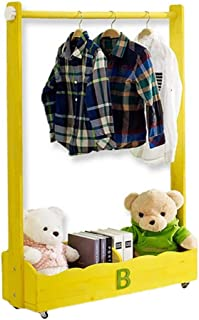 Porte manteau Porte-manteau amovible en bois massif, Cintre multifonctionnel pour enfants, Armoire de rangement à vêtement...