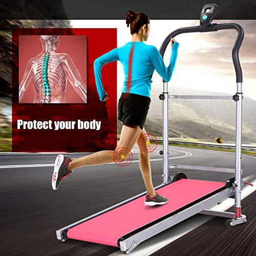 HSART Cinta de Correr Plegable Máquina de Caminar Gimnasio en Casa Rutina De Ejercicio Equipo de Fitness Manual con Cinturón de 90 * 33 Cm - 150 Kg Capacidad