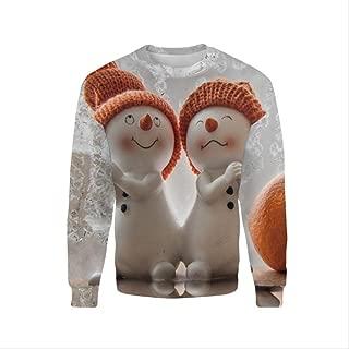 AHJSN Men Women S-4xl Santa Claus Christmas Novelty Ugly Christmas Sweater Snowman 3d Printing Hooded Sweater 4XL 12