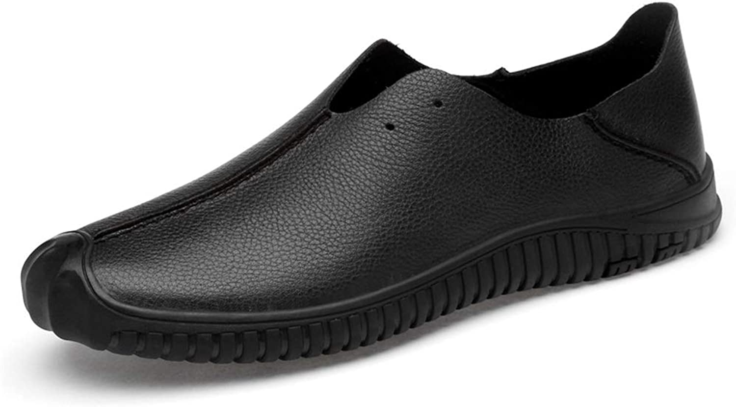 Men's Fashion Driving Loafers Simple Flexible Light Boat Moccasins(Hollow Optional) (color   Black, Size   5 UK)