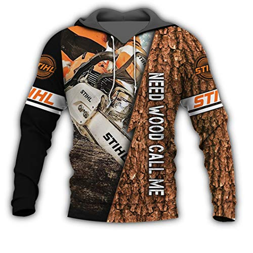 WWWML Beautiful Chainsaw 3D All Print Sweatshirt Chaqueta con Cremallera Harajuku para Hombre Beige XL
