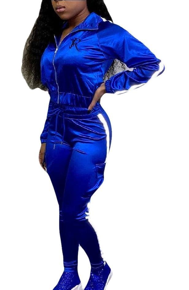 年齢品種宣言女性2ピース服装トラックスーツは、長いスリーブジッパージャケットと長いパンツをセットします