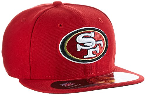 New Era Adulte Bonnet Casquette de Baseball NFL on Field San Francisco 59 Fifty Fitted, Mixte Homme, Baseball Cap Mütze NFL on Field San Francisco 59