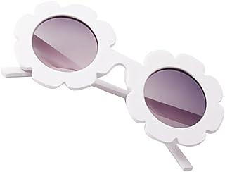 Toygogo - Niño Niños Niño Niña UV400 Gafas De Sol Al Aire Libre Baby Flower Shades Gafas Gafas - Blanco, como se Describe