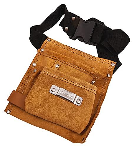 Am-Tech 6 bolsillo de cuero Cinturón de herramientas, N0850