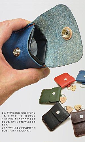 CROSSROAD【クロスロード】ピースアッシュケース・ライト携帯灰皿ヴォーノオイルレザー(タン)