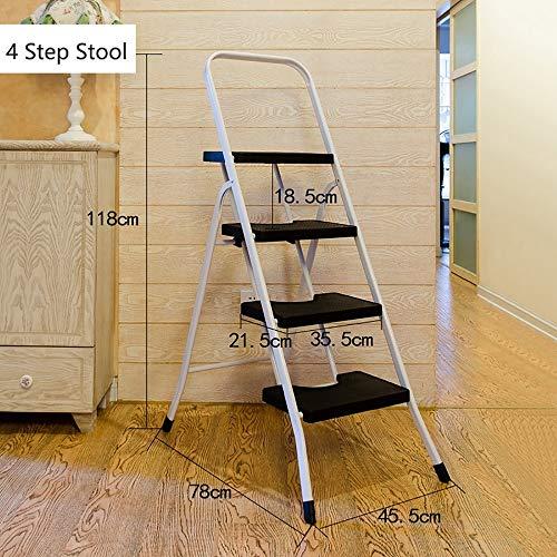 Zhangmeiren Escalera Interior Escalera Multifunción Plegable Escalera En Espiga Engrosamiento Cuatro Escalera De Cinco Peldaños Ático Escalera Mecánica Escalera De Escalada (Color : Black)
