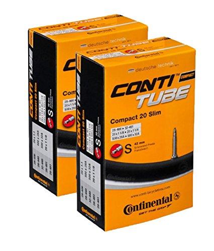 Continental 42mm Presta Valve Tube (2-Pack, 26 x 1 1/4-1.75cc)