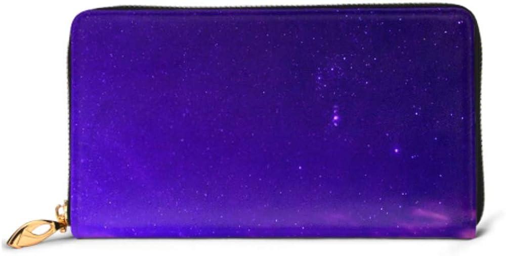 Fashion Handbag Zipper Wallet Night Sky Constellation Orion Phone Clutch Purse Evening Clutch Blocking Leather Wallet Multi Card Organizer