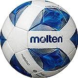 molten(モルテン) サッカーボール 一般・大学・高校・中学校用 5号球 国際公認球 検定球 ヴァンタッジオ4900 土用 スノーホワイトパール×ブルー F5A4901