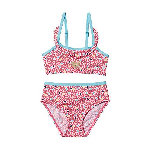 Steiff Mädchen Bikini Badebekleidungsset, Rosa (Rasperry Sorbet 7014), 98