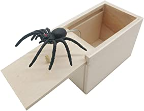 DE Spider Prank Scare Box,Wooden Surprise Box,Handmade Fun Practical Surprise Joke Boxes ,Gags & Practical Joke Toys Hallo...