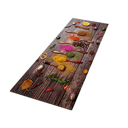 Alfombra de cocina antideslizante con diseño de especias absorbente alfombra de cocina (02)