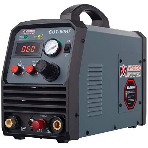 Amico CUT-60HF, 60 Amp Non-touch Pilot Arc Plasma Cutter, Pro. 95~260V Wide Voltage, 4/5 in. Clean Cut Cutting Machine