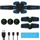 lovebay Muscle Stimulator Trainer ABS Stimulating Abdominal Muscles Toning Belts with 6 Modes 9 Levels Fitness Workout for Men
