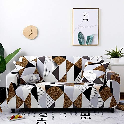 WXQY Funda de sofá elástica Todo Incluido a Prueba de Polvo para Sala de Estar Funda de sofá sección en L Funda de sillón Muebles Funda de sofá A3 3 plazas