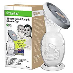 A Haakaa silicone breast pump product image.