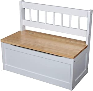 MSZ Design Kinderbank Bank für Kinder Truhenbank aus Holz