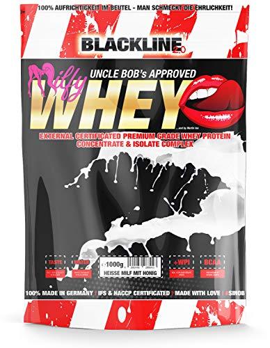 sinob Honest Whey weiproteïne Hete melk met honing 1 x 1000 g. 12,5% isolaat. Direct oplosbaar eiwitpoeder met BCAA & EAA Made in Germany