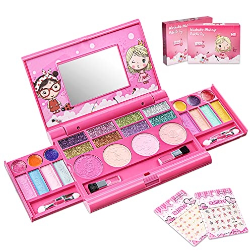 Clickwoo Kids Makeup Set for Girls, Halloween Washable...