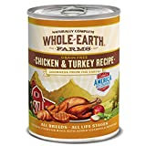 Whole Earth Farms Chicken And Turkey Recipe, 12.7-Ounce, Pack Of 12