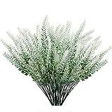 GKONGU Flores artificiales de lavanda flocada, 4 piezas, col