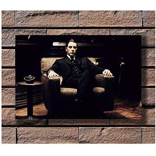 nr affiches en prints Al Pacino portretten Godfather 2 Mafia Classic MoviePoster Canvas Schilderij Wohncultuur 50 x 70 cm No Frame