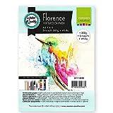 Vaessen Creative Florence Carta per Acquerello, Foglio A5, Bianco, 300 g/MG, Superficie Liscia, qualità Professionale, 15 Fogli per Pittura, Scrittura a Mano e Progetti Artistici