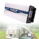 SGSG Inversor de Onda sinusoidal Pura de 3000w, convertidor de energía para automóvil de 12v a 220v, (Pico de 6000w), Adecuado para Camiones y automóviles para Cargar computadoras portátiles, Tab