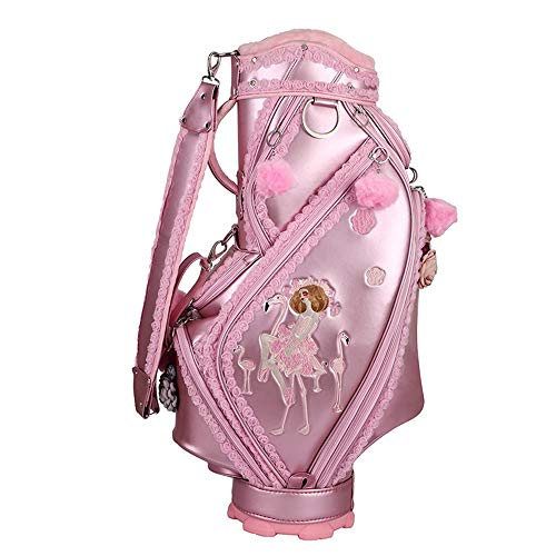 Cheapest Price! Jeterndy Golf Cart Bags Adult Golf Accessories Pink Golf Bag Women's Golf Bag Embroi...