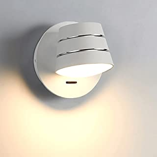 Sconce/Wall Sconces LED Wall Light Fixtures Nordic Design Bedroom Lamp with On Off Switch 4000K About Rotatable Wall Sconc...